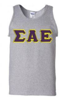 $18 Sigma Alpha Epsilon Lettered Tank Top: Clothing