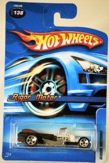 2005   Mattel   Hot Wheels   #138   Model H9046   Rigor Motor   Hot Rod   Black with Red Canopy   Die Cast Metal   164 Scale   New   Collectible Toys & Games
