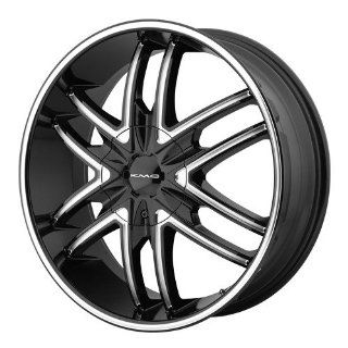 22x9.5 KMC Splinter (Gloss Black w/ Milled Accents) Wheels/Rims 6x135/139.7 (KM67822967315): Automotive