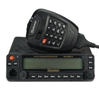 Wouxun KG UV920P A Mobile Transceiver 50W 136 174/400 480 MHz Duplex Cross Band Repeat Dual Receive Dual Track & Dual Speaker, Twin Band, Dual Display : Everything Else