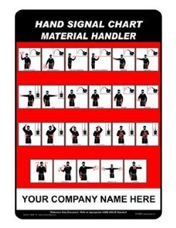 Material Handler Sign CRANE 143 Crane Hand Signals : Business And Store Signs : Office Products