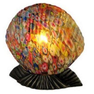 Tiffany Style Clam Shell   Multi Color Table Lamp 1277