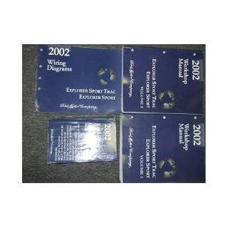 2002 Ford Explorer Sport Trac Service Shop Repair Manual Set FACTORY 02 BOOKS (2 volume set, wiring diagrams manual, and the specifications manual.): ford: Books