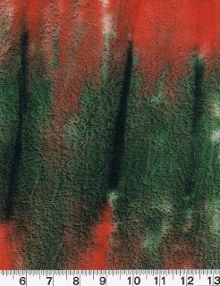 BTHY Quilting Quilt Fabric Batik Tie Dye #153 Orange Red Green Brown Cotton: Arts, Crafts & Sewing
