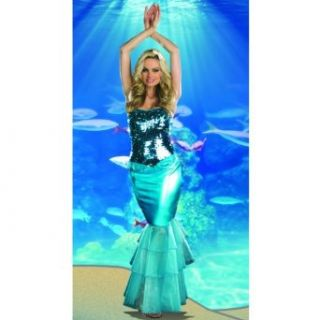 Dreamgirl 7609 Sea Diva Sexy Mermaid Costume (As Shown;Medium): Clothing