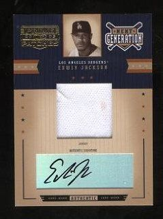 Edwin Jackson Autograph with Game Worn Jersey 2005 Donruss Prime Patches Next Generation Card #NG 14 Certified Autograph #148/150 Signed Arizona Diamondbacks: Sports Collectibles