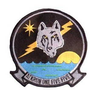 US Navy Fighter & Attack Squadrons Military Embroidered Iron on Patch   United States Navy Collection   Silver Foxes VA 155 Applique Clothing
