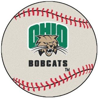 FANMATS NCAA Ohio University Bobcats Nylon Face Baseball Rug: Automotive