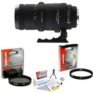 Sigma APO 120 400mm F4.5 5.6 DG Telephoto Lens for Sony Alpha + Opteka UV Filter + Opteka CPL Filter + Opteka 5 Piece Cleaning Kit: Camera & Photo
