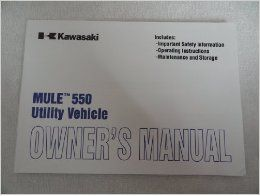 2000 2001 Kawasaki Mule 550 Owners Manual KAF300 C5: Kawasaki: Books