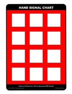 Blank Crane Hand Signal Chart Sign CRANE 163 Crane Hand Signals : Business And Store Signs : Office Products