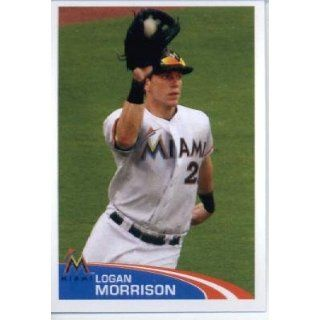 2012 Topps Baseball MLB Sticker #169 Logan Morrison Miami Marlins: Sports Collectibles
