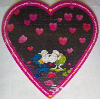 Rare Heye Mordillo; Love Puzzle. Love Hurts Heart Shaped Over 170 Piece Jigsaw Puzzle: Toys & Games