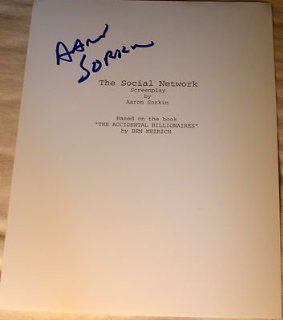 "Aaron Sorkin Signed Autograph Rare ""the Social Network"" Full 163 Page Script Coa   Signed Scripts and Screenplays: Collectibles & Fine Art"