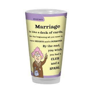 Tree Free Greetings PG02817 Aunty Acid Artful Alehouse Pint Glass, 16 Ounce, Marriage Cards: Kitchen & Dining
