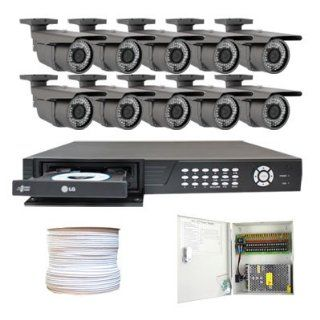 Complete High End 16 Channel Real Time (2T HD + DVD Burner) HDMI DVR Security Camera CCTV Surveillance System Package w/ 10 Pack 700TVL 2.8~12mm varifocal lens, 72pcs IR LED, 164 feet IR Distance Cameras (with 500 Feet Power/Video Combo Cable): Camera &amp