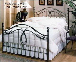 Hillsdale Furniture 167HFQR Milano Headboard with Rails, Full/Queen, Antique Pewter