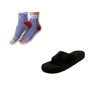 Yoga Sandals Set   Comfys, Black Panther, Large (8   9 1/2), 1 Pair with PEDI SOX   American Cruise: Health & Personal Care