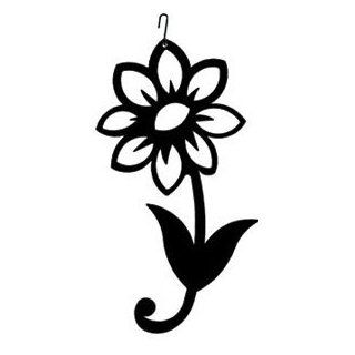 Shasta Daisy Silhouette   Childrens Wall Decor