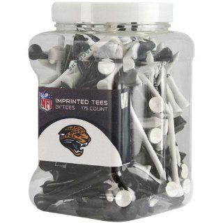 NFL Jacksonville Jaguars 175 Pack Black White Imprinted Golf Tees : Sports Fan T Shirts : Sports & Outdoors