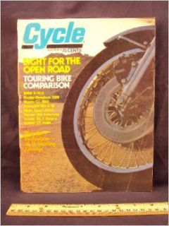 1975 75 August CYCLE Magazine (Features: Road Test on Husqvarna 175 Cross Country, + Maico MD 250): Cycle: Books
