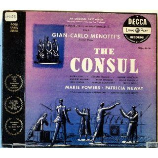 Menotti's The Consul, Marie Powers, Patricia Neway, Gloria Lane: Music