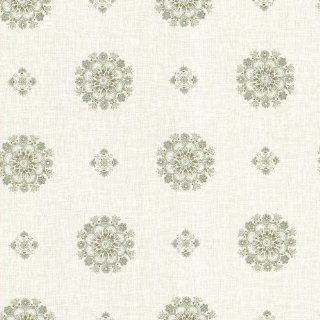 Beacon House 302 66825 Vintage Floral Medallion Wallpaper, Green