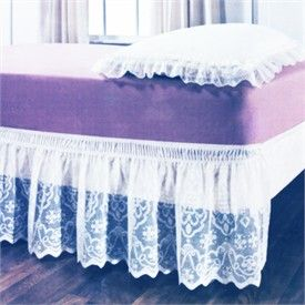 Lace Wrap Around Bed Skirts   Cheap Lace Elastic Bed Ruffles