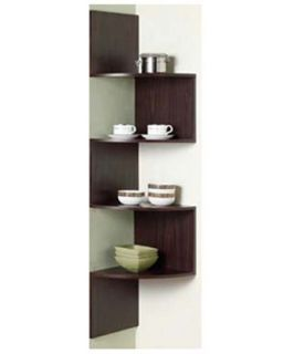 4D Concepts Hanging Corner Storage   Chocolate   Bookcases