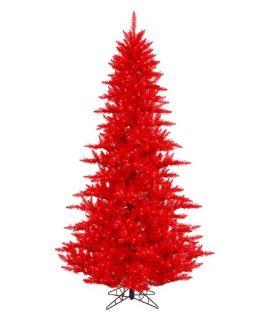 Vickerman Red Fir Pre lit Christmas Tree   Christmas Trees