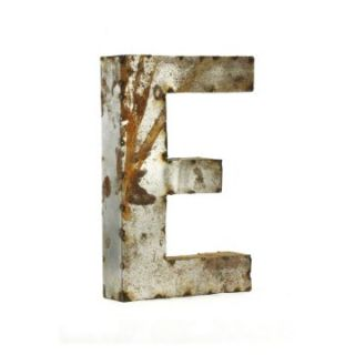 Letter E Metal Wall Art   Small   10.5W x 18H in.   Wall Sculptures and Panels