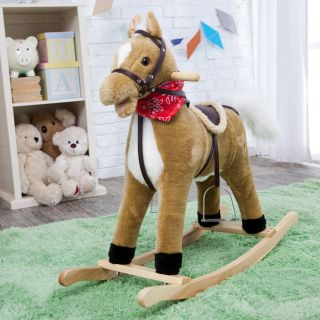 Charm Blonde Rocking Horse with Movement and Sounds   Rocking Toys