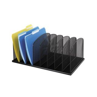 Safco 8 Upright Sections Onyx Desktop Organizer   Office Desk Accessories
