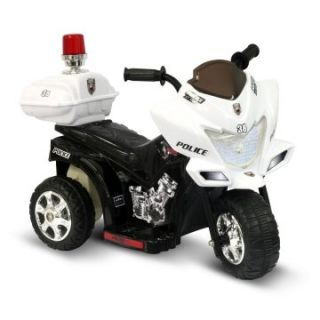Kidz Motorz 6V JR Black Police Motorcycle   Battery Powered Riding Toys