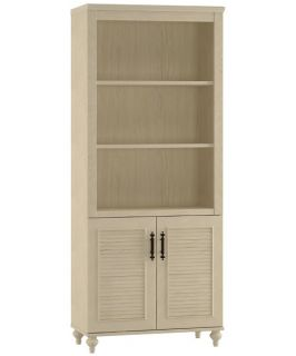 kathy ireland Office by Bush Furniture Volcano Dusk Driftwood Dreams   Bookcase with Doors   Bookcases