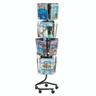 16 Pocket Rotary Magazine Display   Commercial Magazine Racks