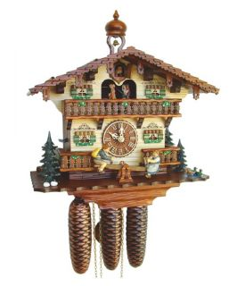 River City Clocks MD868 13 Boy and Girl on Seesaw Musical Cottage Cuckoo Clock   Cuckoo Clocks