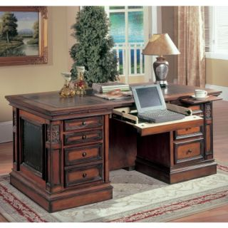 Parker House DaVinci Double Pedestal Executive Desk   Computer Desks