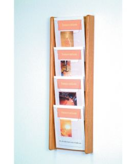 4 Pocket Vertical Wall Magazine Rack   Commercial Magazine Racks
