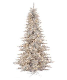 Vickerman Silver Fir Pre lit Christmas Tree   Christmas Trees