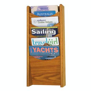5 Pocket Wall Magazine Rack   Commercial Magazine Racks