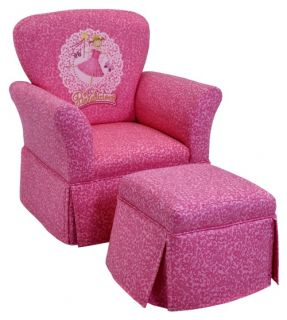 Kidz World Pinkalicious Skirted Rocker and Ottoman Set   Chairs