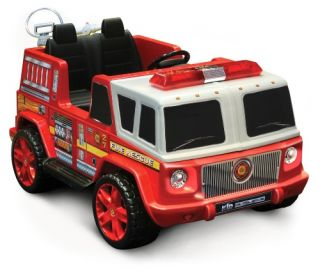 Kidz Motorz 12V Two Seater Fire Engine   Battery Powered Riding Toys