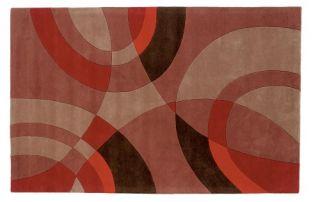 Dynamic Rugs Nolita Collection Handmade Wool Hearth Rug Burnt Orange Sandstorm   Hearth Rugs
