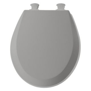 Bemis B500EC162 Round Closed Front Molded Wood Toilet Seat with Easy Clean & Change Hinge in Silver   Toilet Seats