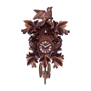 River City Clocks 807 16Q Seven Maple Leaves and Three Birds Cuckoo Clock   Cuckoo Clocks