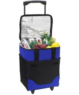 32 Can Collapsible Rolling Picnic Cooler   Coolers