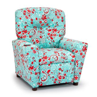 Kidz World Jenn Harmony Kids Floral Twill Recliner   Chairs