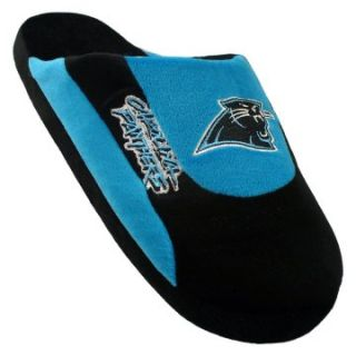 Comfy Feet NFL Low Pro Stripe Slippers   Carolina Panthers   Mens Slippers