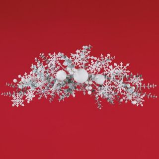 Oddity Winter Wonderland Snowflake Swag   24 in.   Christmas Swags